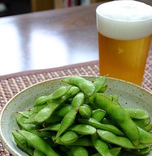 鉄板の枝豆は、アルコール代謝効果アリ